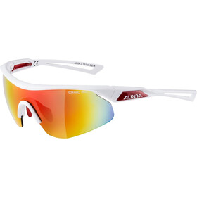 Alpina Nylos Shield Glasses white-red